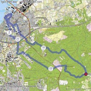 kaartje koloniale wandeling Harderwijk