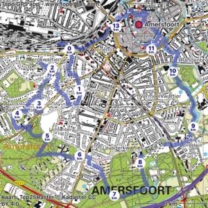 topo kaart wandeling amersfoort